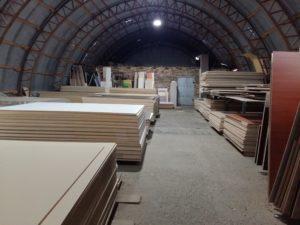 Склад плитных материалов